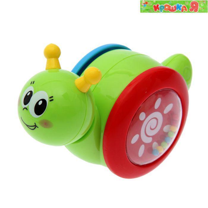 Игрушка для малышей каталка-погремушка-неваляшка «Улитка»