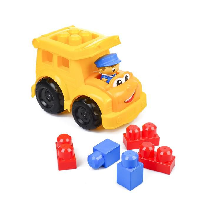 """Конструктор """"Маленькие строители: школьный автобус Сонни"""", 9 деталей"""