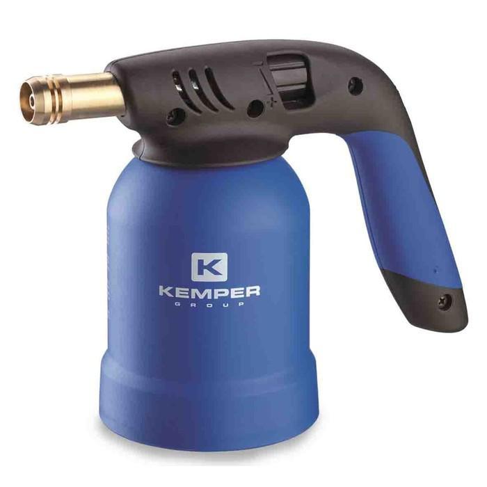 Лампа паяльная KEMPER KE2019, газовая, для прокалываемого баллона, 1900°, пьезоподжиг