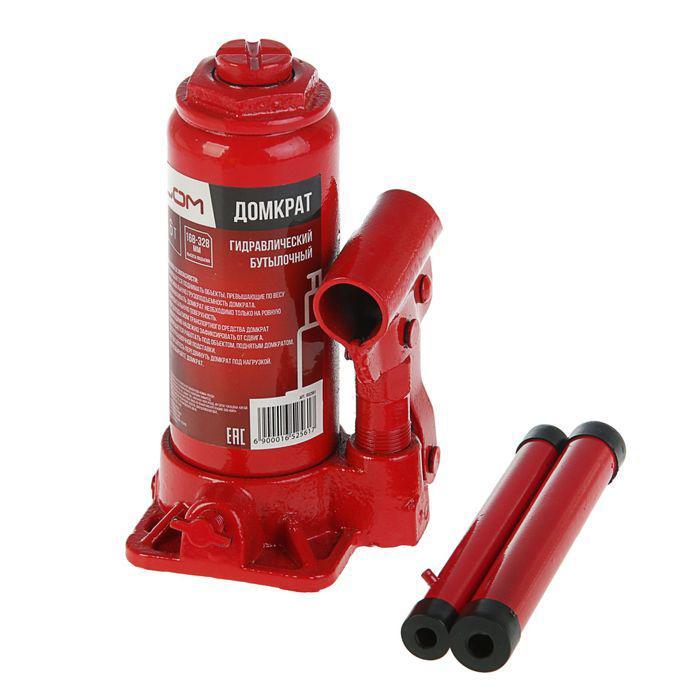 Домкрат гидравлический бутылочный LOM 6 т, высота подъема 178-338 мм