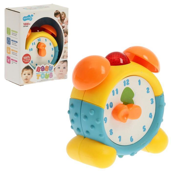 Развивающая игрушка «Будильник Часики», световые эффекты, озвучка на английском языке