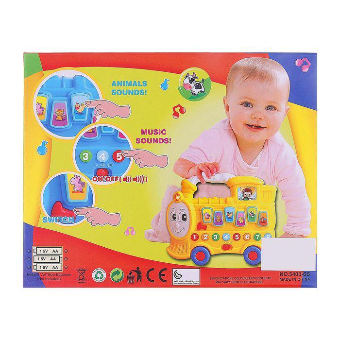 Развивающая игрушка «Паровозик», изучаем животных, цифры, световые и звуковые эффекты