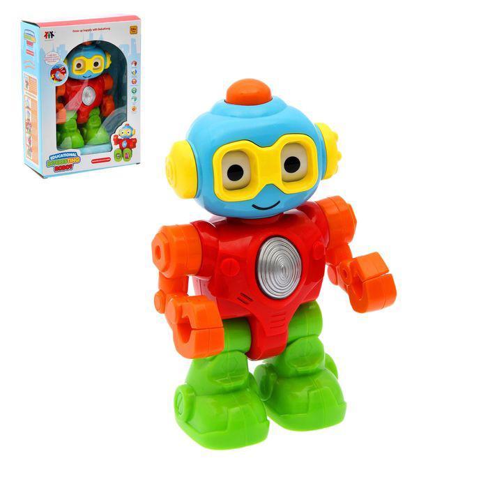 """Игрушка развивающая музыкальная """"Робот"""", с трещащими элементами, свет, звук"""