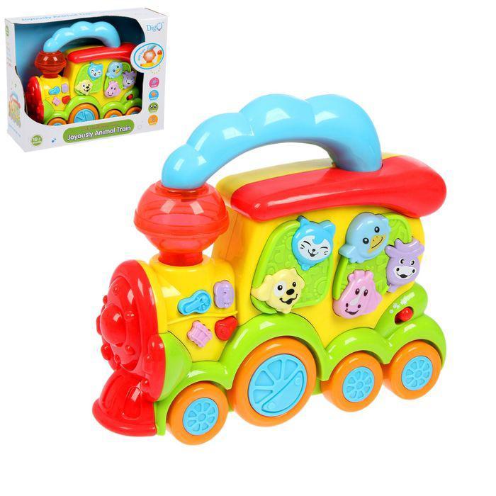 Музыкальная игрушка «Весёлый паровозик», звуки животных, световые эффекты