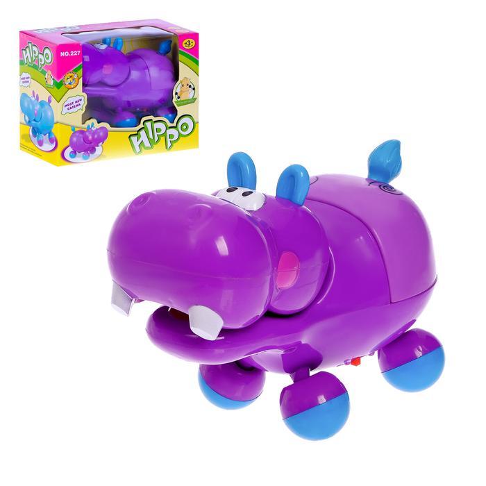"""Развивающая игрушка """"Бегемот"""", двигается, световые и звуковые эффекты"""