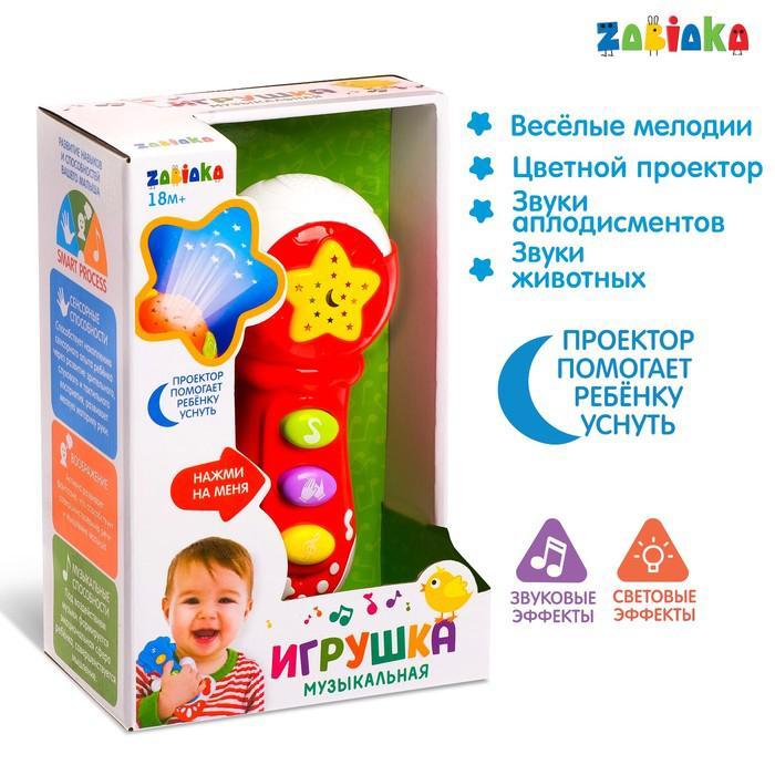 Музыкальная игрушка «Микрофон», световые и звуковые эффекты