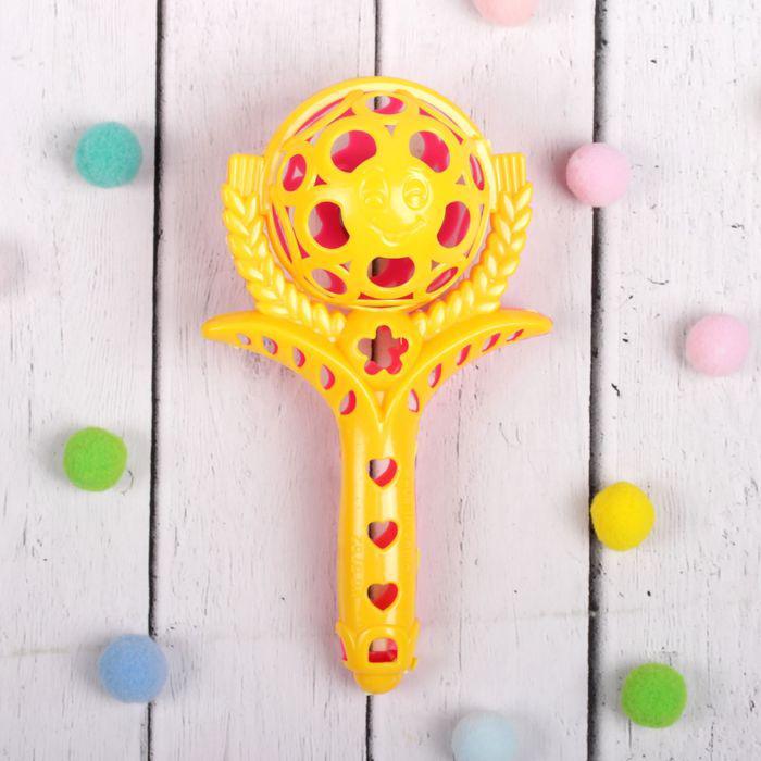 Погремушка «Цветок-4», цвета МИКС