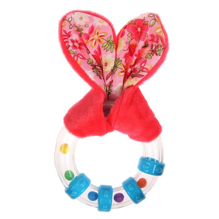 Развивающая погремушка-прорезыватель «Для маленьких принцесс», форма круг с колечками, цвета МИКС
