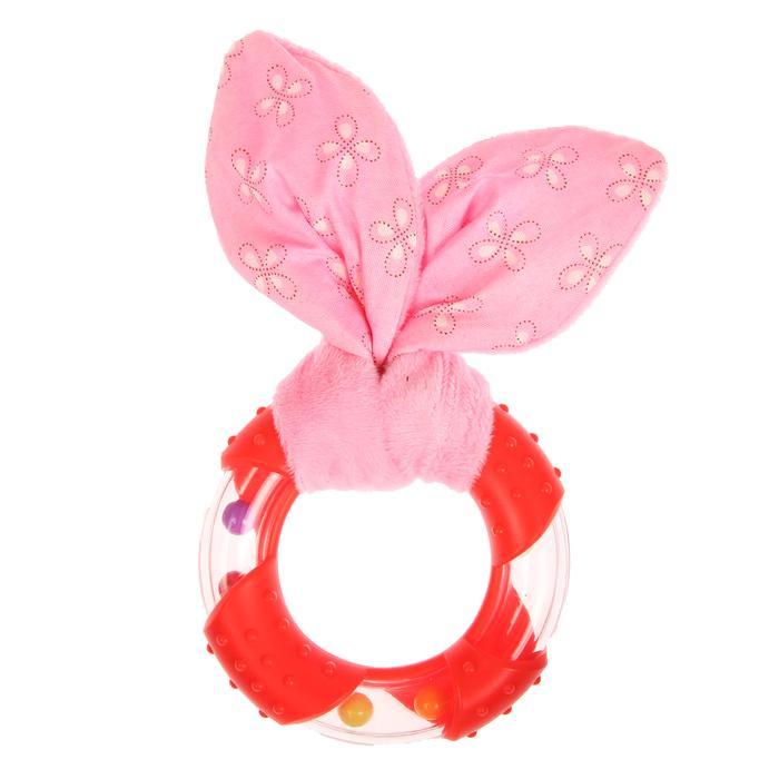 Развивающая погремушка-прорезыватель «Для маленьких принцесс», форма круг с фактурой