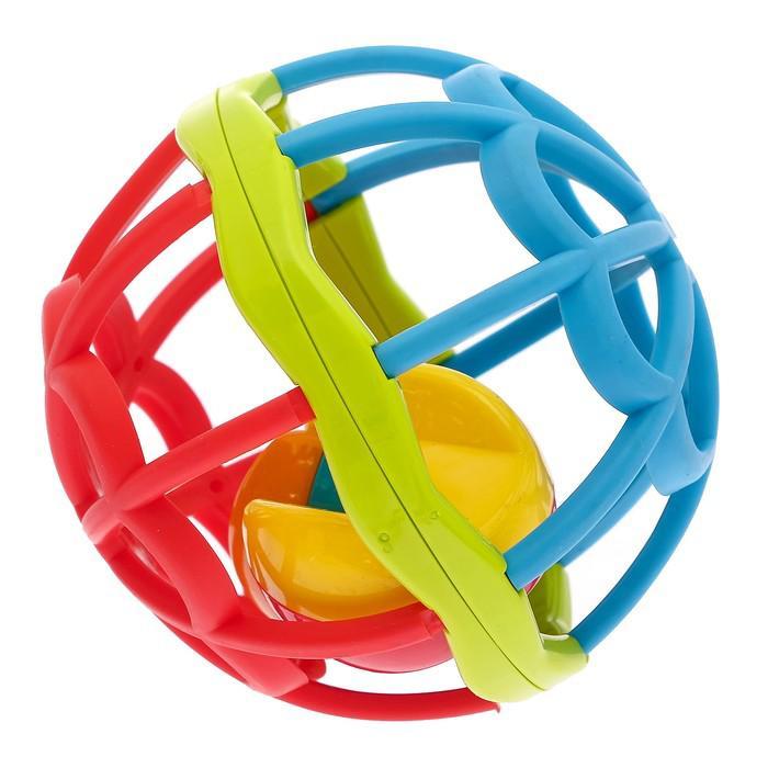 Развивающая игрушка «Шарик», с погремушкой, с мягкими элементами