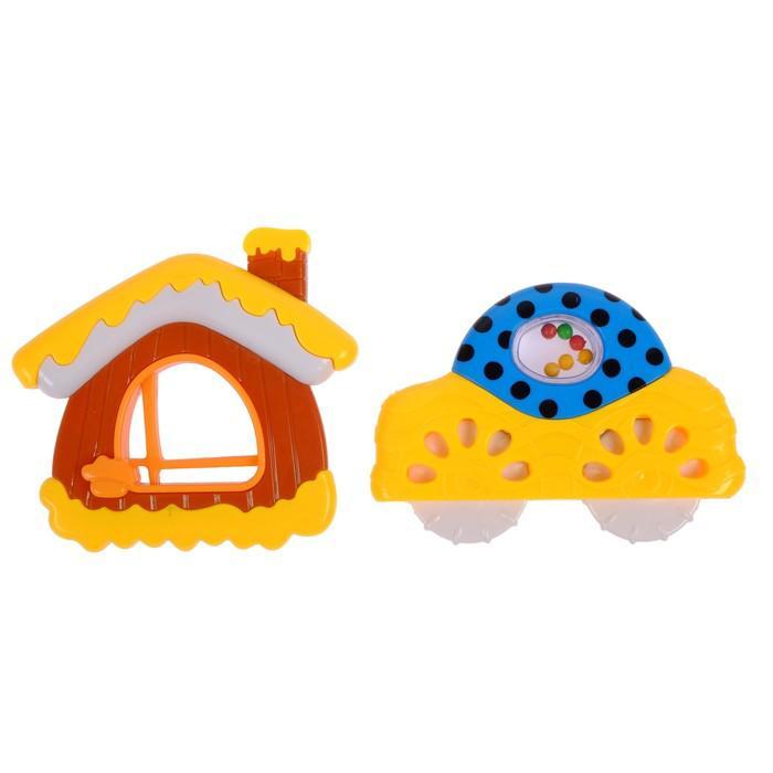 Набор погремушек «Снежный домик», 2 шт., цвета МИКС