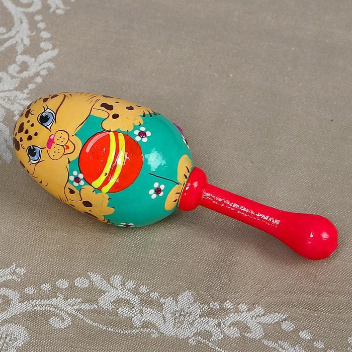 Погремушка «Котёнок с мячиком», яйцо, 11 см