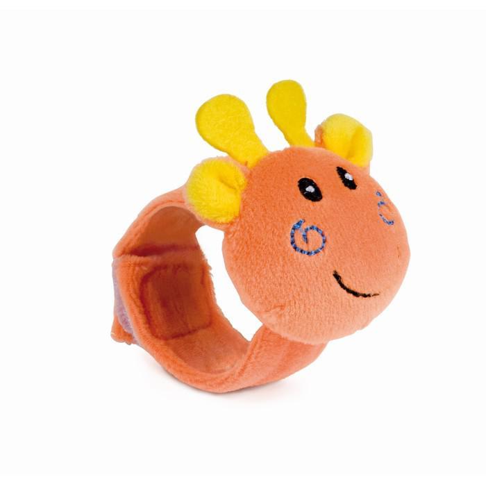 Мягкая игрушка-браслет с погремушкой на ручку, 0+, МИКС