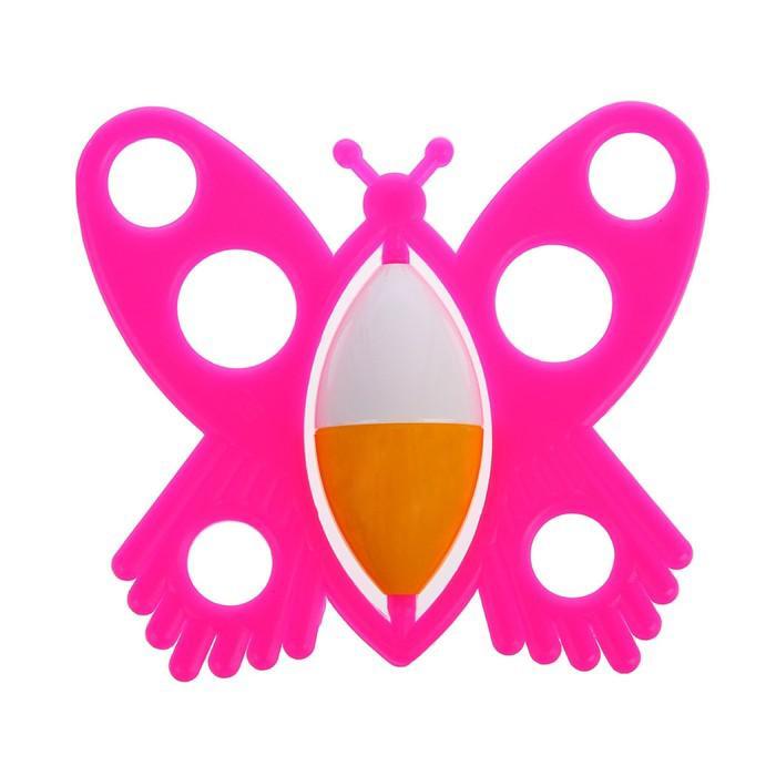 Погремушка «Бабочка», цвета МИКС
