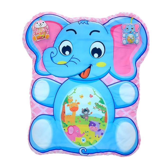 Коврик детский развивающий «Слоник», 2 игрушки