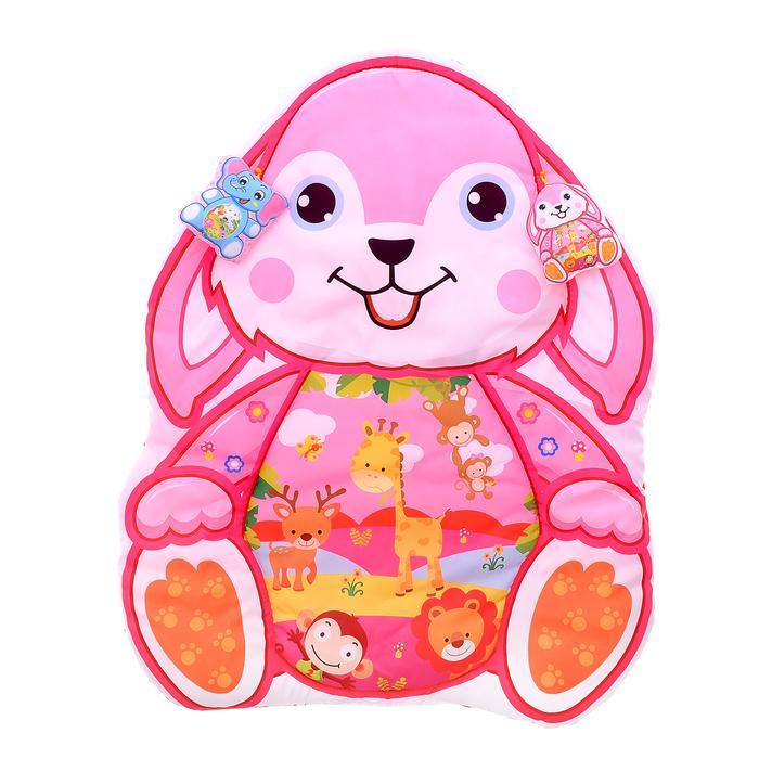 Коврик детский развивающий «Зайка», 2 игрушки