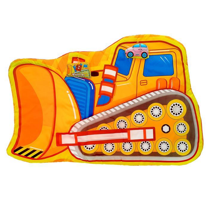 Коврик детский развивающий «Маленький строитель», 2 игрушки