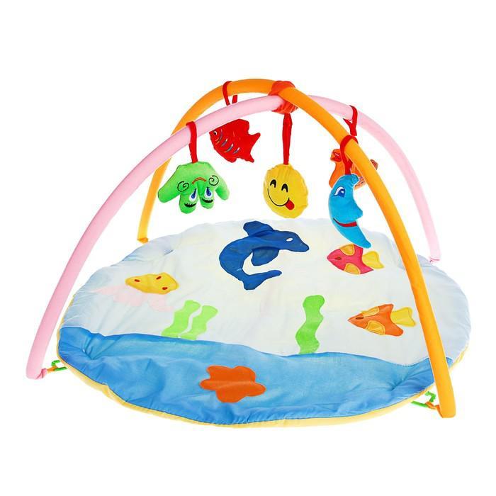 Коврик развивающий с дугами «Морские жители», 5 игрушек