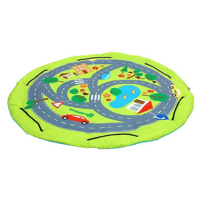Развивающий коврик-сумка для игрушек «Транспорт», диаметр 100 см
