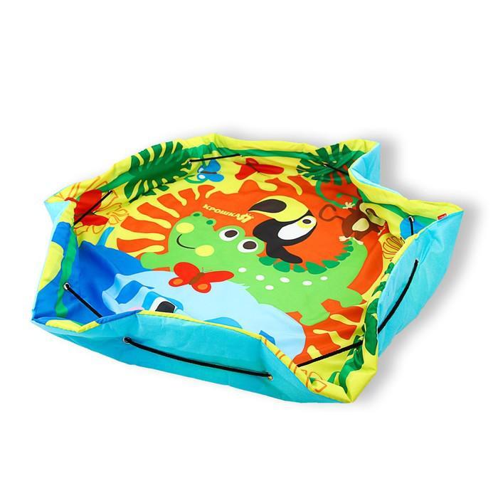 Коврик-сумка развивающий «Африка», для игрушек, d = 100 см