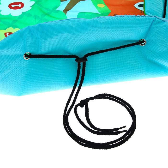 Коврик-сумка развивающий «Зверята», для игрушек, d = 100 см
