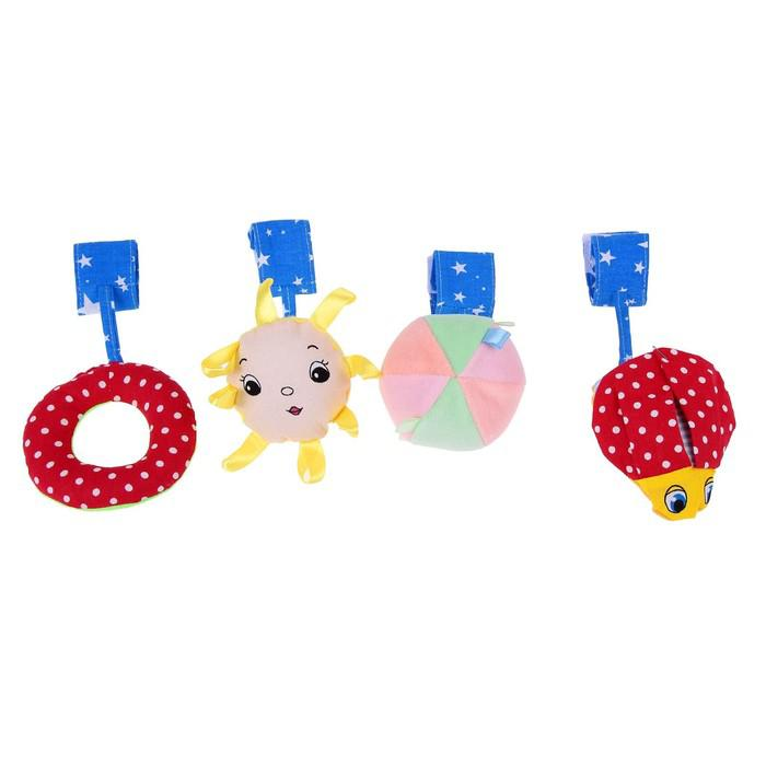 Коврик развивающий с дугами «Весёлый парк», 4 игрушки, цвета МИКС