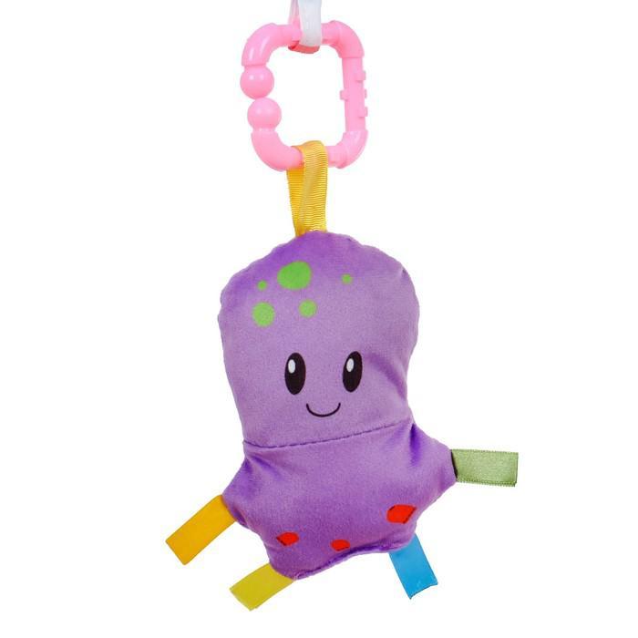 Развивающий коврик с дугами «Ёжик на прогулке», 5 игрушек, с подушечкой