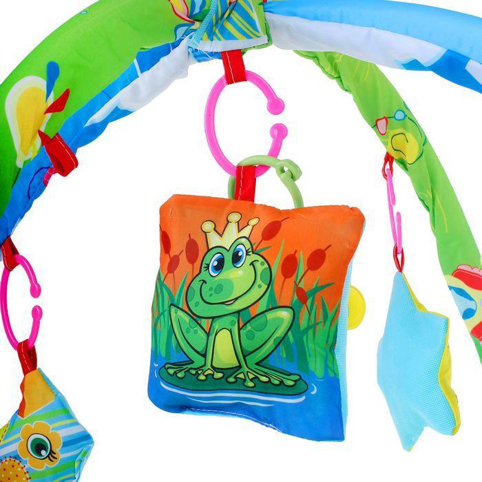 Коврик развивающий с дугами «Радуга», 5 игрушек