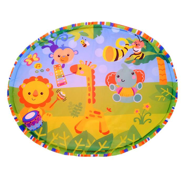 Развивающий коврик с дугами «Ансамбль», 5 игрушек