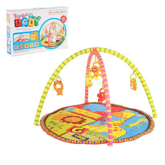 Коврик развивающий с дугами «Моя радость», 5 игрушек