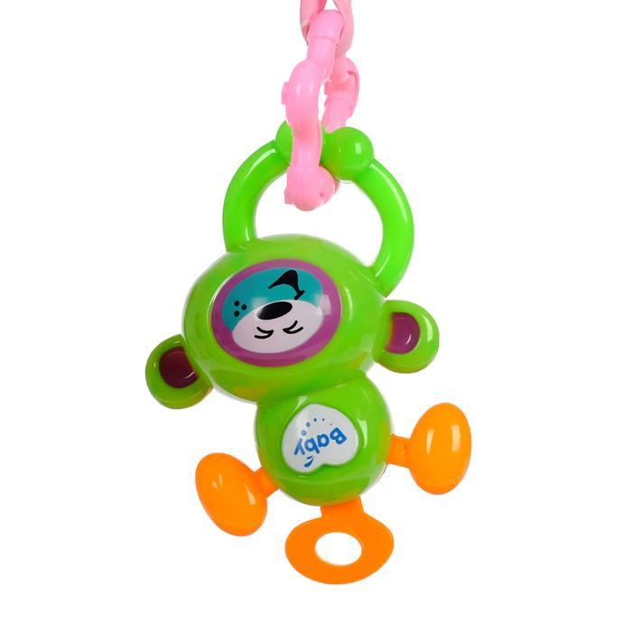 Развивающий коврик с дугами «Черепашка», 5 игрушек + безопасное зеркальце