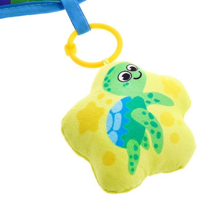 Развивающий коврик «Подводная сказка», 4 игрушки, диаметр 80 см