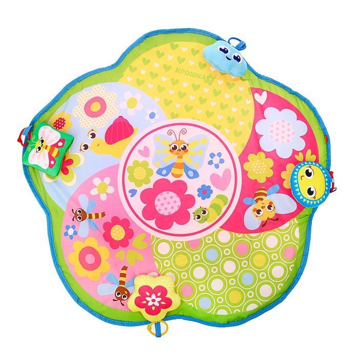 Развивающий коврик «Бабочки», 4 игрушки, размер 80х80 см