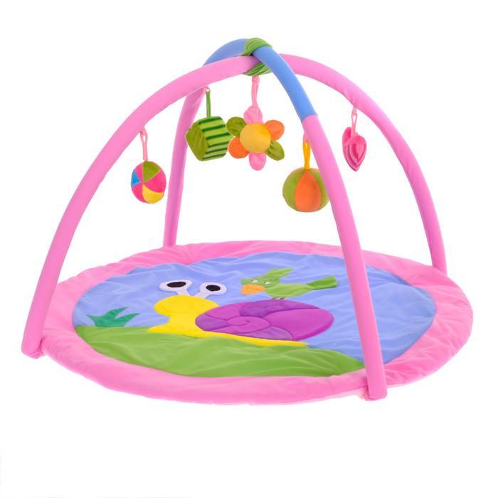 Коврик развивающий с дугами «Улитка», 5 игрушек