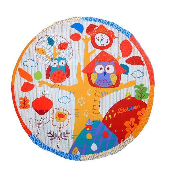 Развивающий коврик с дугами «Совушка», 5 игрушек