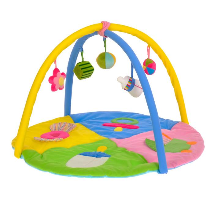 Коврик развивающий с дугами «Малышкины радости», 5 игрушек