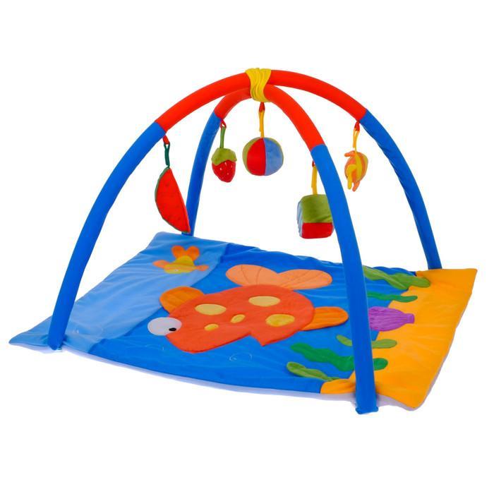 Коврик развивающий с дугами «Море», 5 игрушек