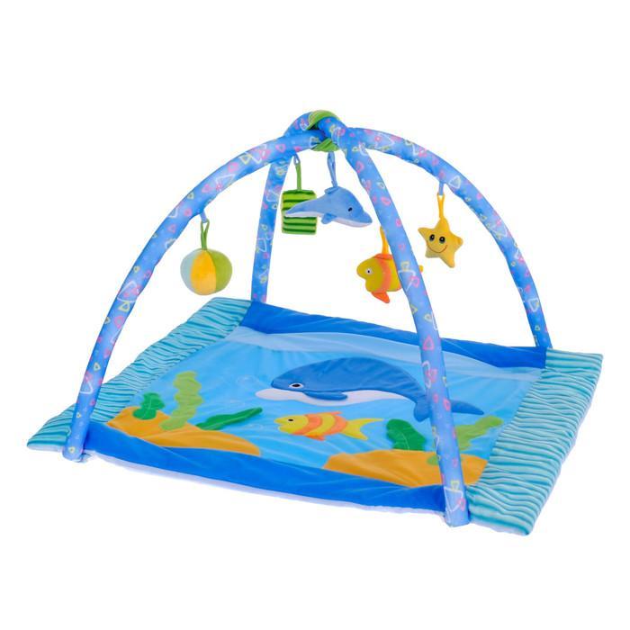 Коврик развивающий с дугами «Морской мир», 5 игрушек