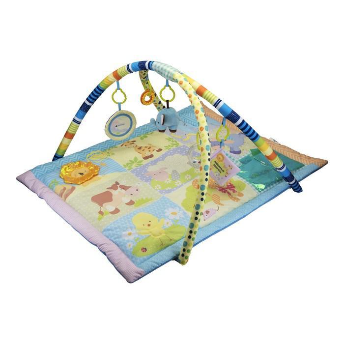 Развивающий коврик «Любимые животные», 5 игрушек