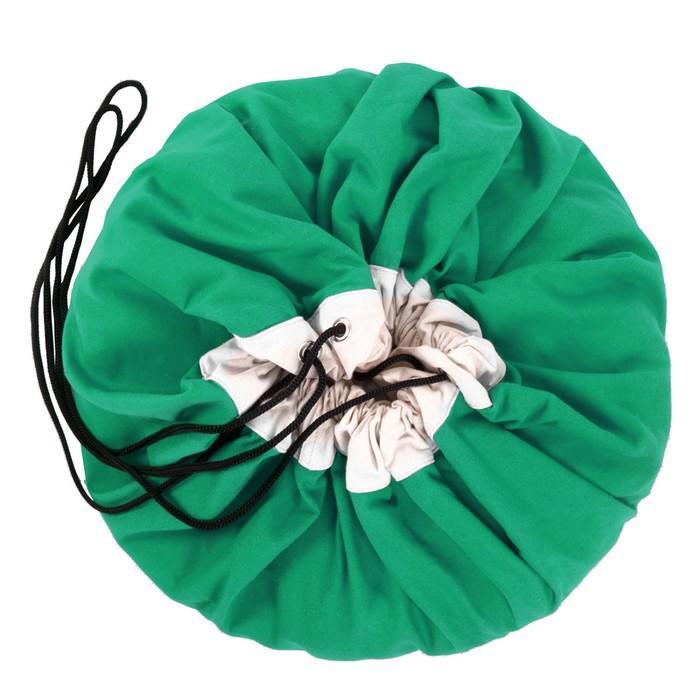 Игровой коврик - мешок для хранения игрушек 2 в 1 Play&Go, коллекция Classic, цвет зелёный