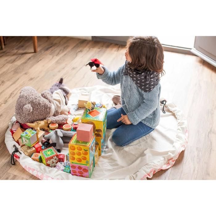 Игровой коврик - мешок для хранения игрушек 2 в 1 Play&Go, коллекция Print, «Розовый бриллиант»   39