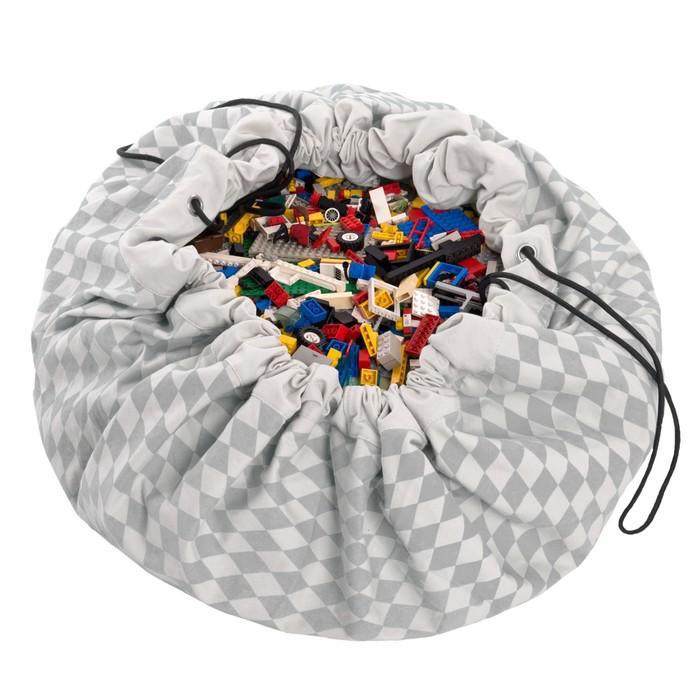 Игровой коврик - мешок для хранения игрушек 2 в 1 Play&Go, коллекция Print, «Серый бриллиант»   3983