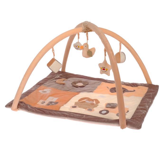 Коврик развивающий с дугами «Малыш», 5 игрушек