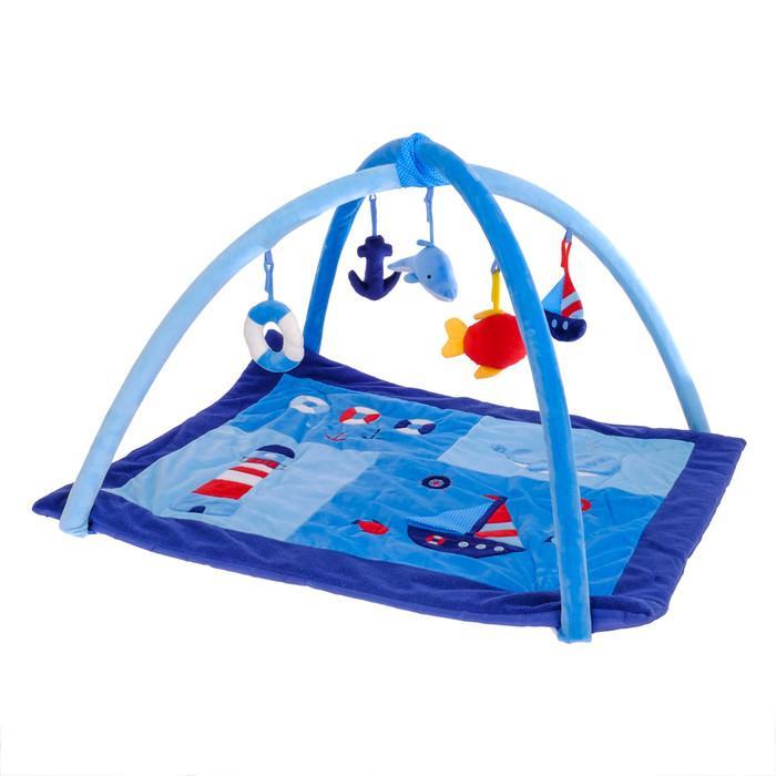 Коврик развивающий с дугами «Маленький моряк», 5 игрушек