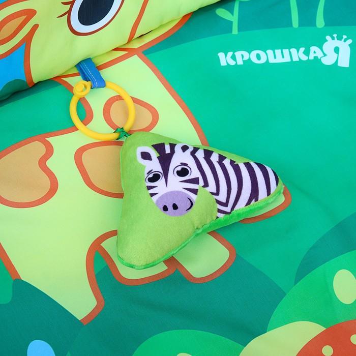 Развивающий коврик с бортиками «Зверята», 4 игрушки, диаметр 85 см
