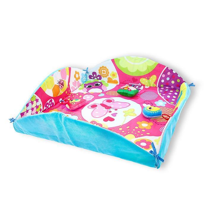Развивающий коврик с бортиками «Малышке», 4 игрушки, диаметр 85 см