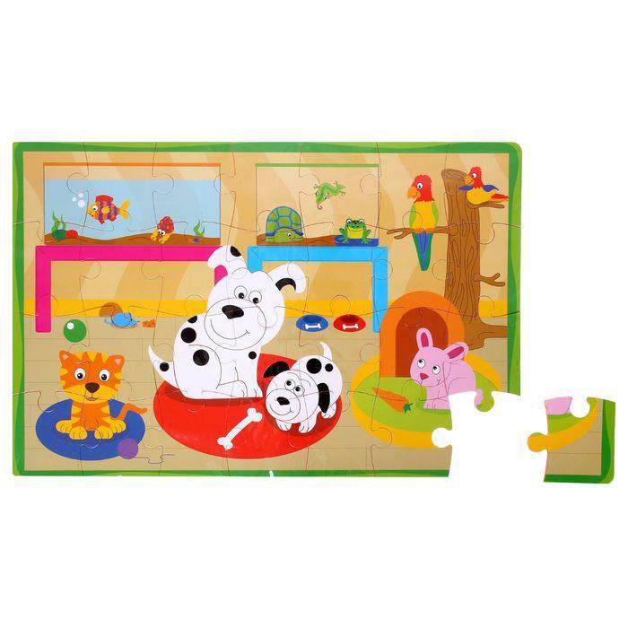 Развивающий коврик-пазл «Домашние животные», 28 элементов