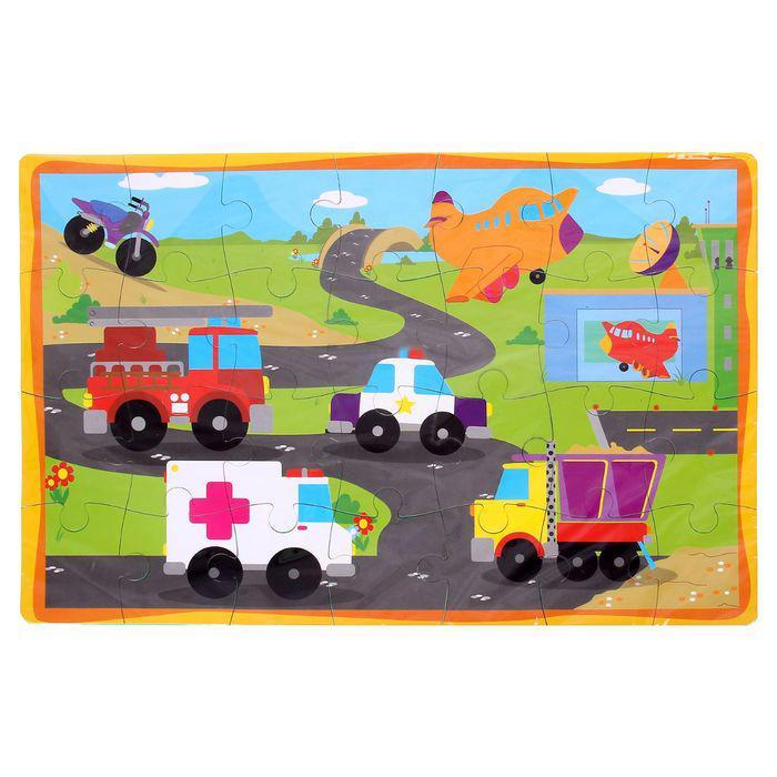 Развивающий коврик-пазл «Транспорт», 28 элементов