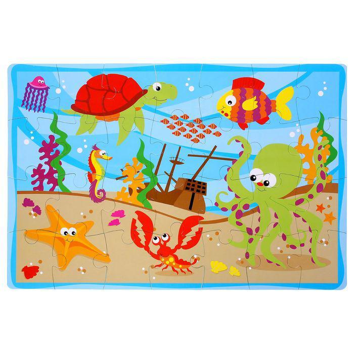 Развивающий коврик-пазл «Морское дно», 28 элементов