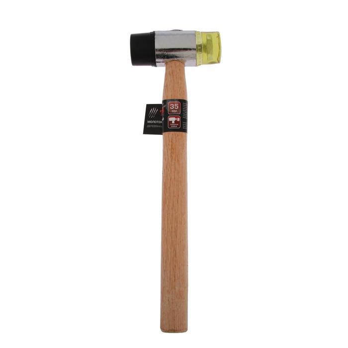 Молоток рихтовочный TUNDRA, бойки 35 мм, деревянная рукоятка